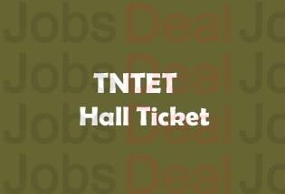 TNTET Hall Ticket 2017