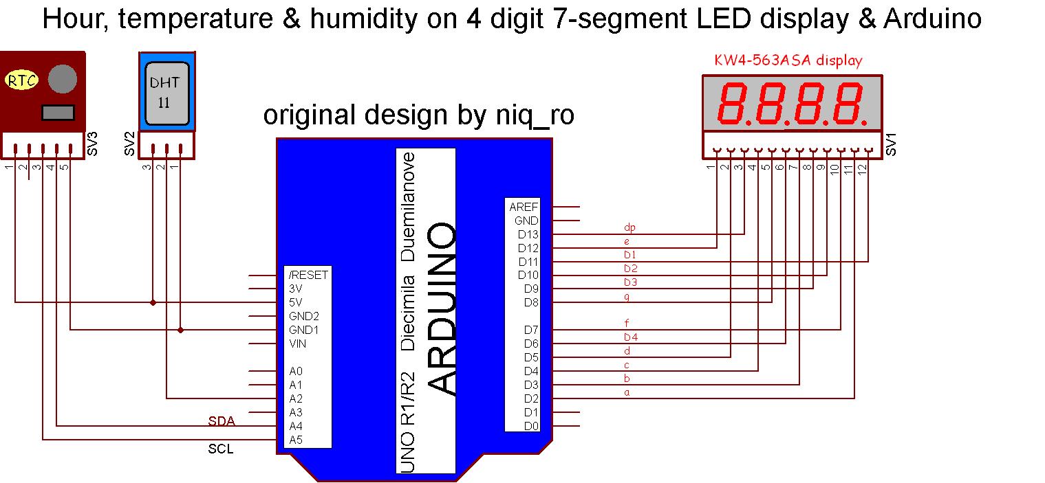 RTC_DHT11_arduino_4_digit_7_segment_display_schematic  Seven Segment Display Datasheet on