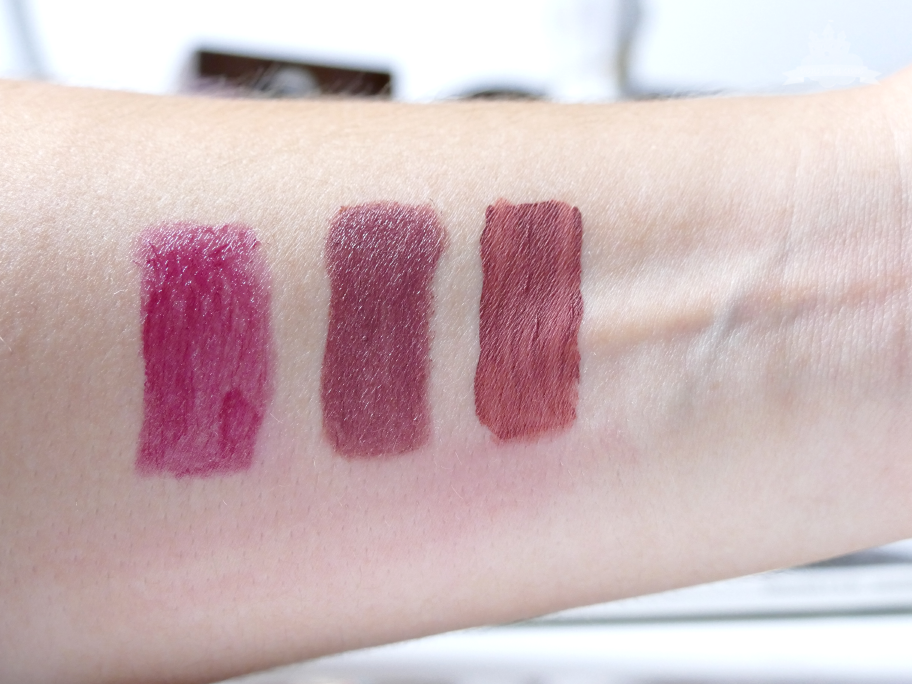 Mac Hot chocolate, Astor My Darling, Nyx Lingerie Exotic Swatches