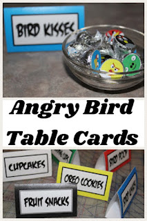 Celebrate with ease at your Angry Birds party with these table cards that can be used at the dessert table, as place settings, or for games. #angrybirds #tablecard #placesetting #printableparty #diypartymomblog