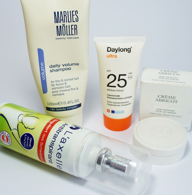 Aufgebrauchte Kosmetik - Juni 2016 Marlies Möller, Daylong, L'axelle, Dior