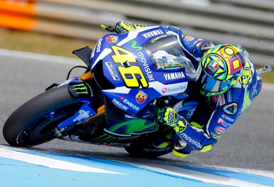 MotoGP : Kualifikasi Jerez 2016 . . Rossi akan start di urutan pertama disusul  oleh Lorenzo dan Marquez