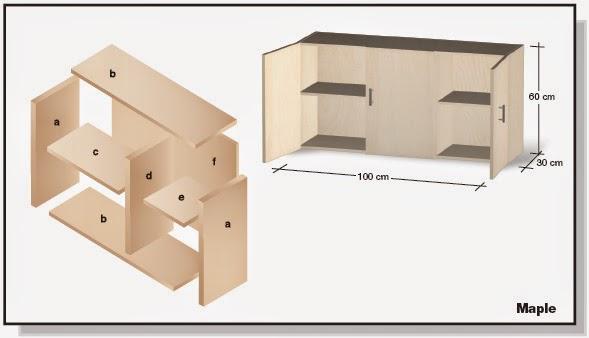 Plano de mueble de melamina proyecto 2 alacena de cocina for Como hacer un plano de una cocina