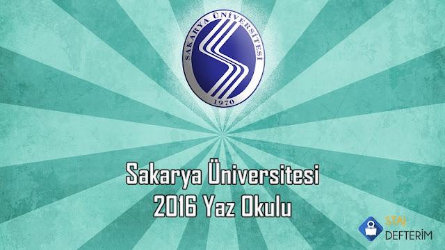 Sakarya Üniversitesi 2016 Yaz Okulu