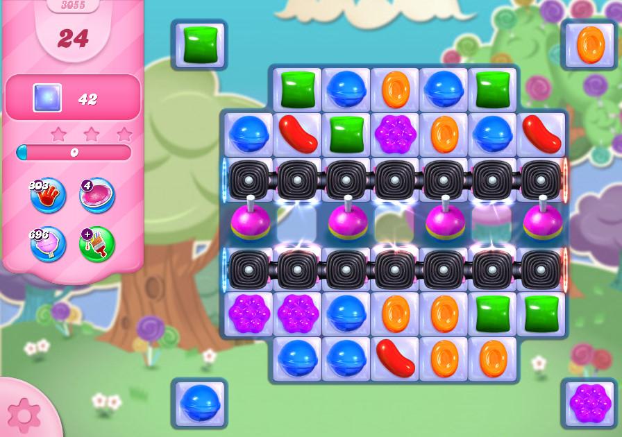 Candy Crush Saga level 3055