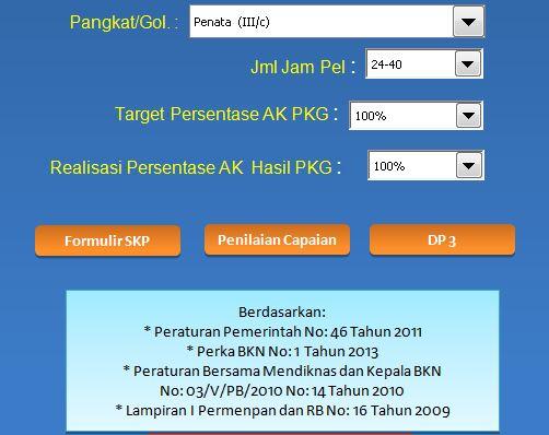 Download Aplikasi SKP untuk Kenaikan Pangkat Tahun 2016 Format Microsoft Excel