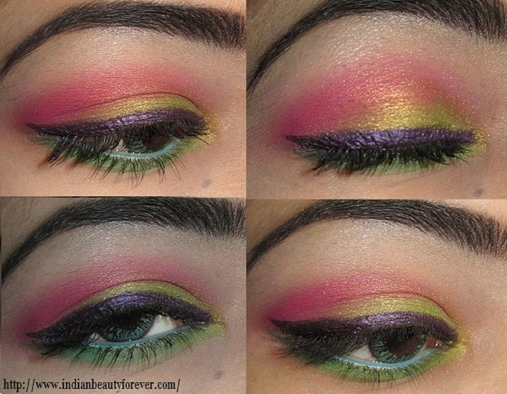colorful indian eye makeup