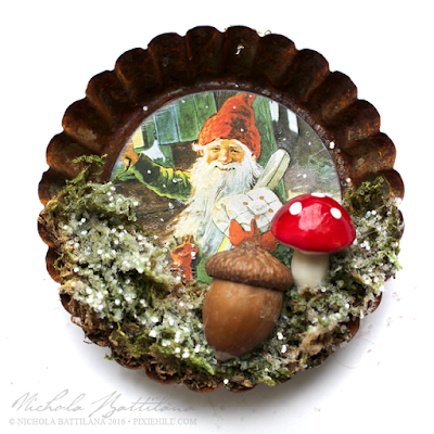 Gnome Tart Tin Ornaments - Nichola Battilana