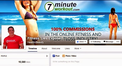 7 Minute workout Facebook page