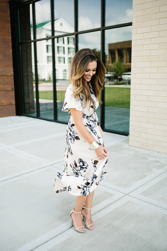 KBStyled: blue bonnet maxi dress vici collection fall florals