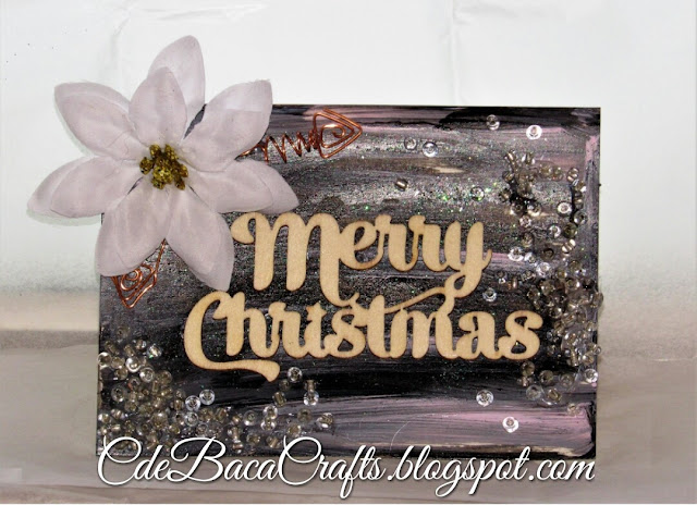 Handmade Merry Christmas card by CdeBaca Crafts.