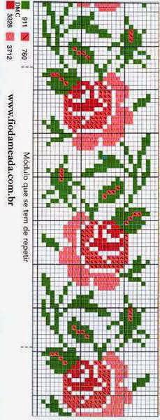 Patrones Flores En Punto De Cruz Revistas De Manualidades Gratis