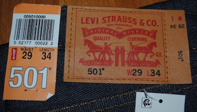 Levi's 501STF Patch and Paper Tag, The Patch shows famous Two Horse Logo