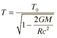 Dilatación gravitacional del tiempo