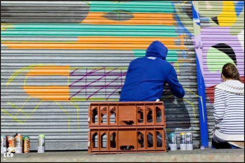 Street Artist Mr Penfold- 45RPM - Malarky & Billy hit East London