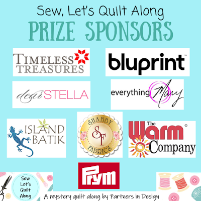 Prize Sponsors for the Sew Let's Quilt Along - a sewing and quilting themed quilt along