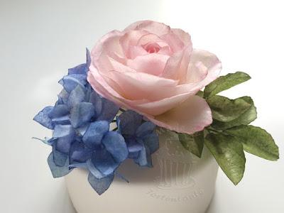 essbare Rose und Hydrangea kurs class