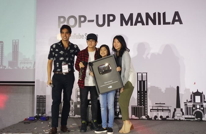 Niana Guerrero received her Gold Play Button award at #YTPopupSpaceMNL.