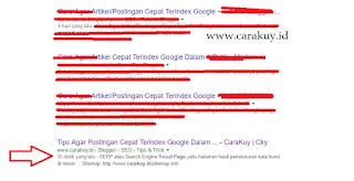 Tips Agar Postingan Cepat Terindex Google Dalam Hitungan Detik!