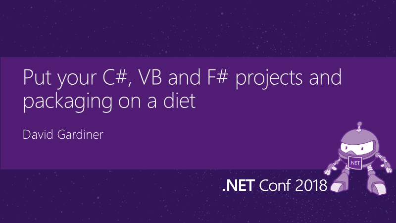 Title slide for .NET Conf talk