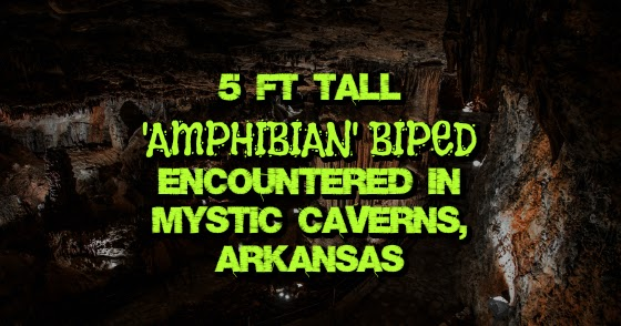 5 Ft Tall 'Amphibian' Biped Encountered in Mystic Caverns, Arkansas