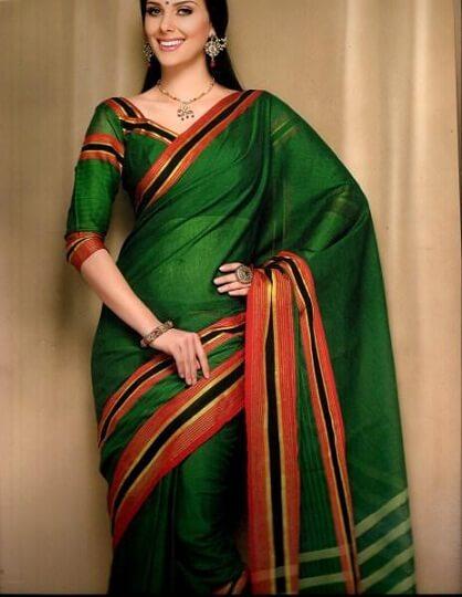 Dark Green Bangalore Saree