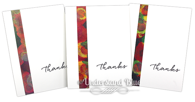Thank You Cards - Fluid Acrylic Technique by Understand Blue
