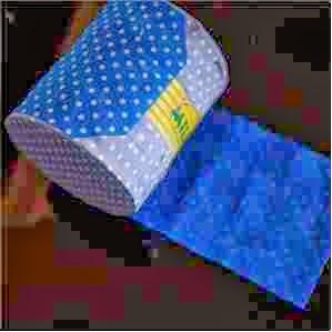 lata revestida de tecido