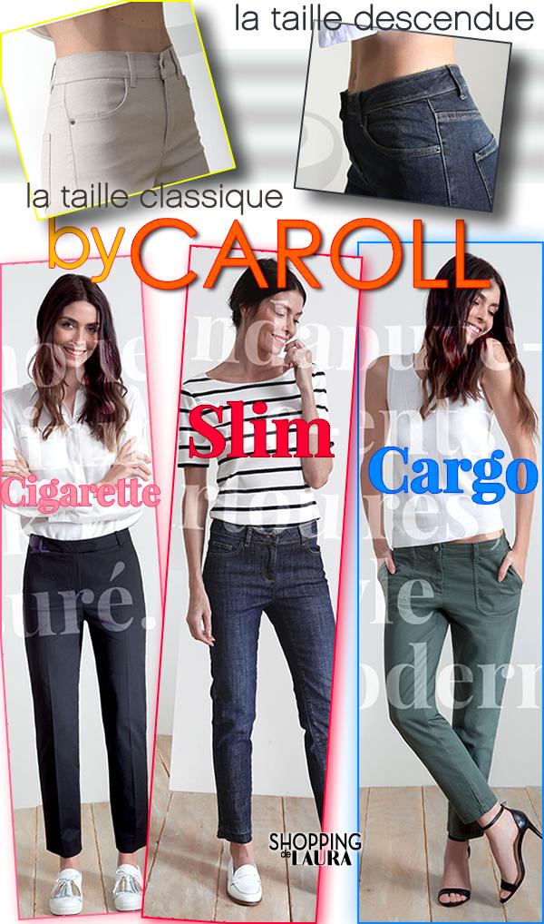 Coupe jeans et pantalons CAROLL femme Slim, Cigarette et Cargo