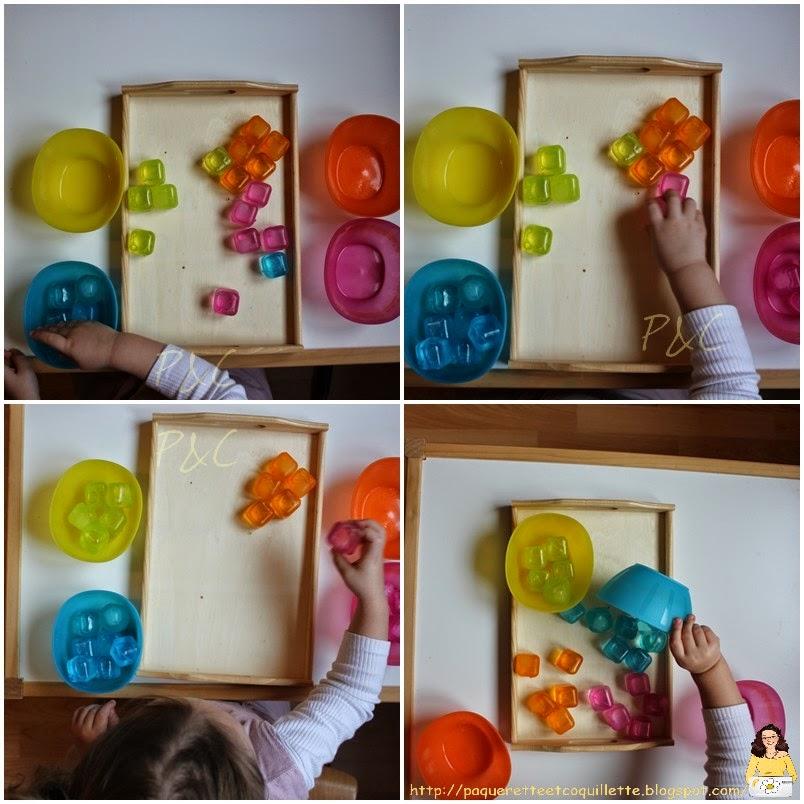 paquerette et coquillette et si on jouait avec les couleurs activit montessori. Black Bedroom Furniture Sets. Home Design Ideas