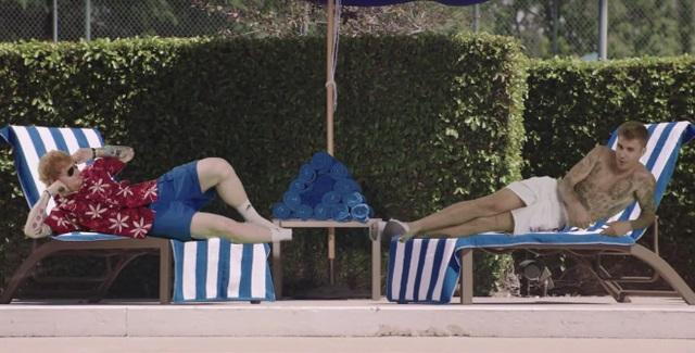 Ed Sheeran & Justin Bieber Premiere 'I Don't Care' Music Video