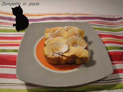 Budino di panettone e mele-Come utilizzare il panettone rimasto