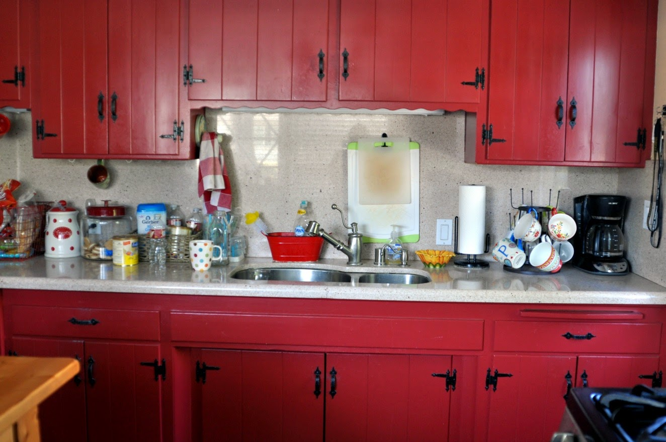 Kitchen revamp the afters life on lemon lane Revamp old kitchen cabinets