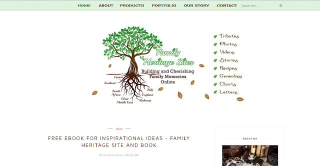 Family Heritage Sites Website Design by Julianne of Bratiful Creative Solutions
