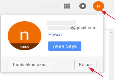 Cara Keluar dari Gmail