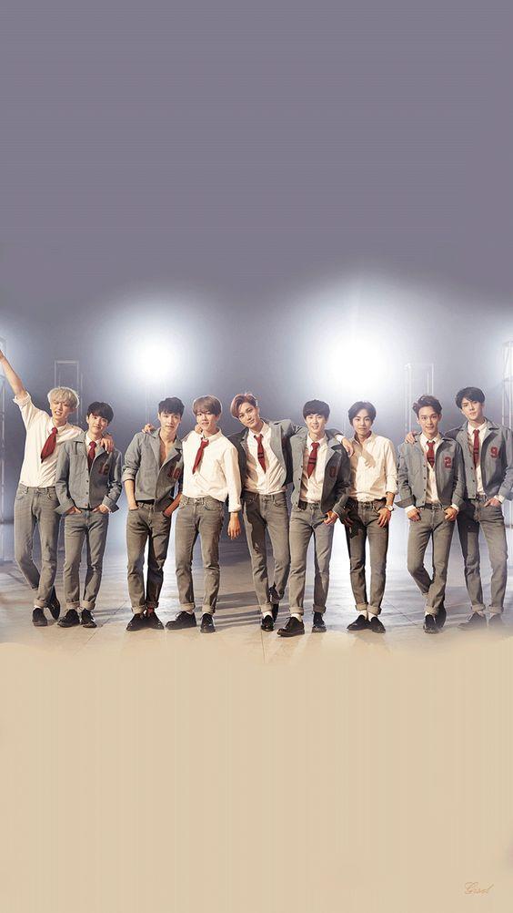 Hình nền điện thoại nhóm nhạc EXO 10