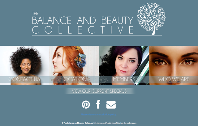 The Balance and Beauty Collective website by Johnny Mason