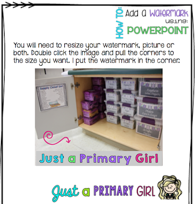 Just a Primary Girl - How to Add Watermarks in Powerpoint