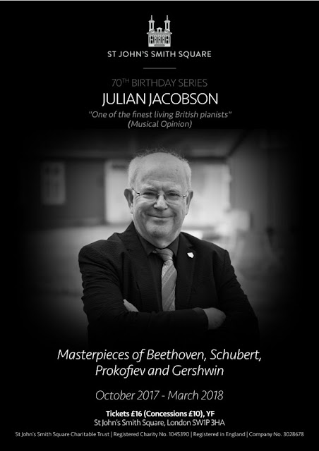 Julian Jacobson 70th birthday series at St John's Smith Square