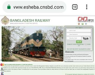 Bangladesh Railway Website