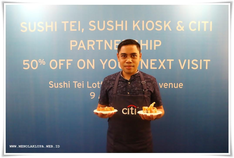 Citi Bank Indonesia kasih makanan enak di Sushi Tei dan Sushi Kiosk bisa dapat e-voucher gratis