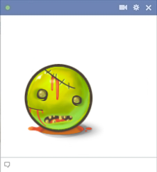 Facebook Scary Emoticon