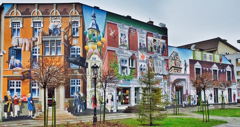 Słupsk murale, co zobaczyć w Słupsku