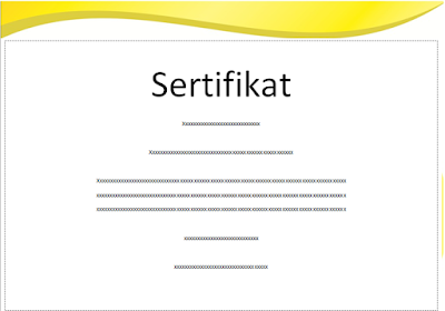 Contoh Desain Blangko Sertifikat Kosong Format Coreldraw dan Ms. Word