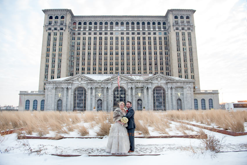 Detroit Wedding Photography Old train Station - Sudeep Studio