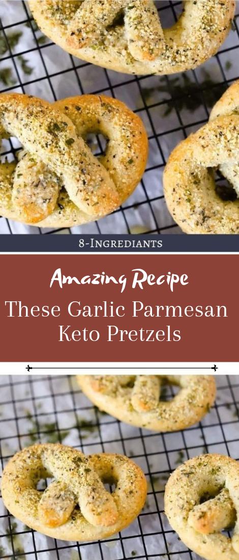 These Garlic Parmesan Keto Pretzels #healthyfood #dietketo