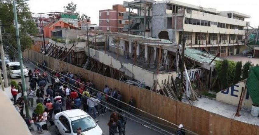 Gobierno de México inició la demolición del colegio donde fallecieron 21 niños tras el terremoto de 7.1 en septiembre de 2017