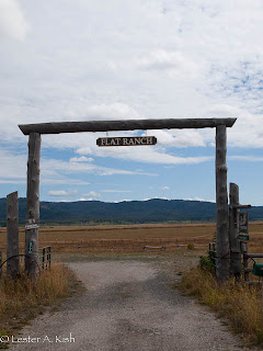 Entrance to the Flat Ranch, Idaho