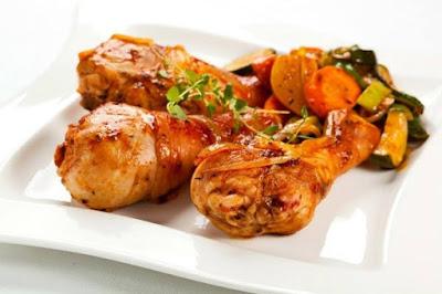 دجاج بالزعتر والسماق