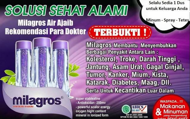 Harga Air Milagros Per Botol 2017 | Agen Besar Milagros Bekasi
